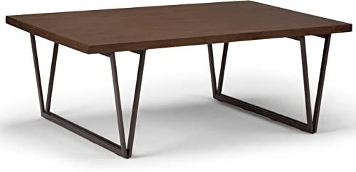 New Simpli Home Ryder Solid Wood Metal 50 Inch Wide Rectangle