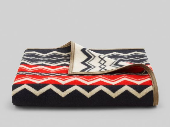 Add instant character to your home with this cozy, stylish blanket, inspired by the intricate, geometric designs of Native American tribes. Add instant characte