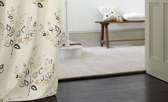 A stylish hallways featuring the Avebury drape.