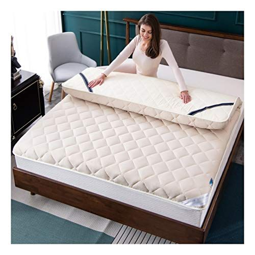 Yangliyu Mattress Topper Microfiber Mattress Topper 8cm Thick High Elastic Breathable Mattress Can Be Use Mattress Design Soft Mattress Sleep Comfortably