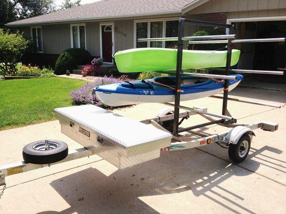 Kayak trailer bike trailers and kayaks on pinterest for Harbor freight fishing cart