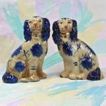 BLUE STAFFORDSHIRE DOGS