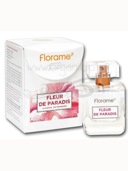 Lasa-te cucerita de parfumul BIO Fleur de Paradis - Florame! Parfumul delicat de frezie si iasomie iti rasfata simturile, purtandu-te zilnic intr-o poveste unica, in care tu vei fi o zeita moderna. Incearca-l acum!