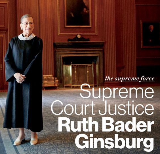 Glamour's Women of the year... The Honorable Ruth Bader Ginsburg. Many thanks to her for paving the way for women today.: