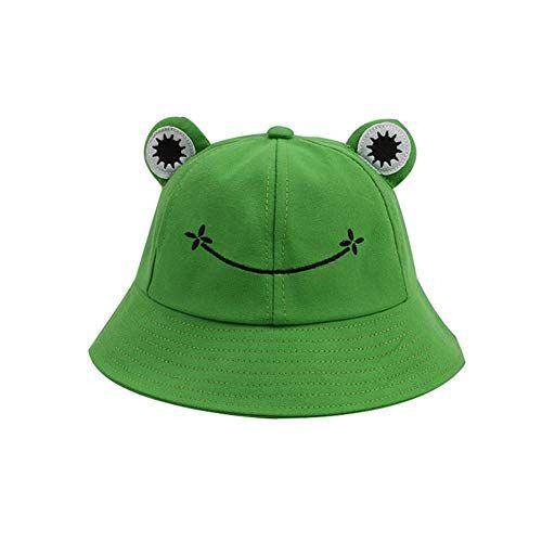 Cute Frog Bucket Hat Summer Cotton Bucket Sun Hat For Adults Children Wide Brim Fisherman Hat Adju Cute Frogs Cute Hats Frog