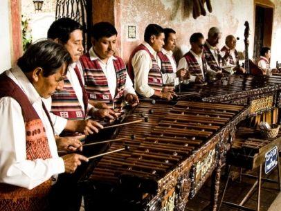 La marimba de Chiapas, México