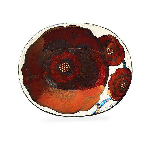 A Birger Kaipiainen stoneware charger, Arabia, Finland. 58,5 x 48,5 cm.. - Modern Autumn Sale, Stockholm 575 – Bukowskis: