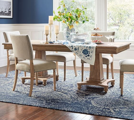 Pottery Barn Roma Dining Table Weathered Elm Hand Finish Pottery Barn Dining Tables Sale Dining Room Fu Dining Table Sale Dining Table Pottery Barn Dining Room