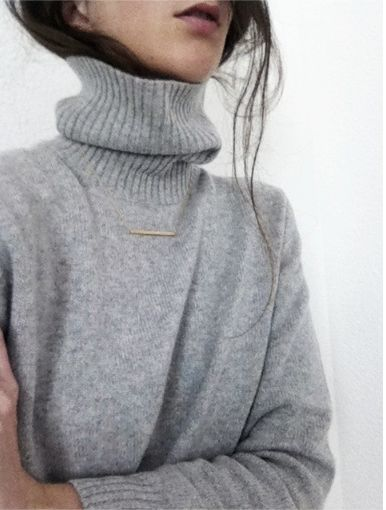 Perfect high neck jumper and necklace: