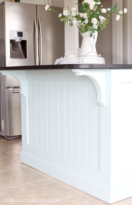 Casual Home Kitchen Island With Solid American Hardwood Top Kitchen Island Makeover Diy Kitchen Island Kitchen Styling