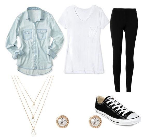 """""""Cute outfit for teen girls"""" by udeapage on Polyvore featuring Aéropostale, Max Studio, Target, Converse, Forever 21, women's clothing, women, female, woman and misses"""