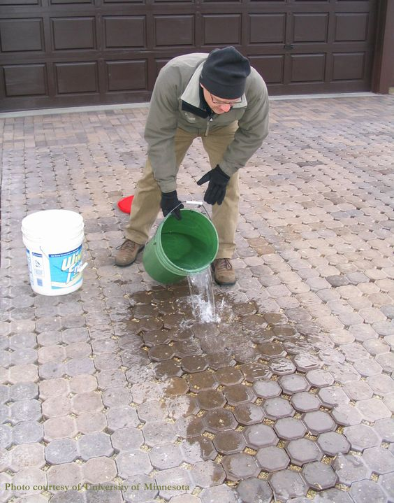 A demonstration of porous pavement