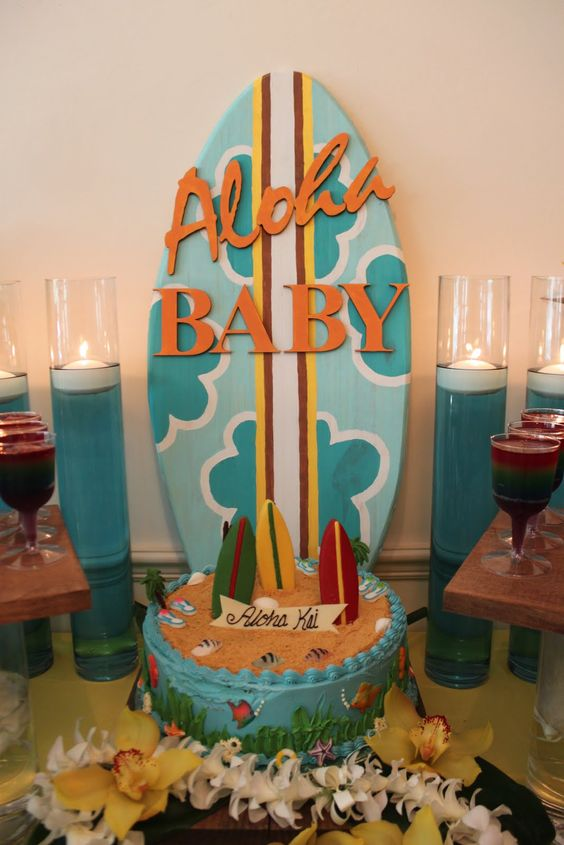 baby shower hawaii baby shower luau theme baby shower surf hawaiian