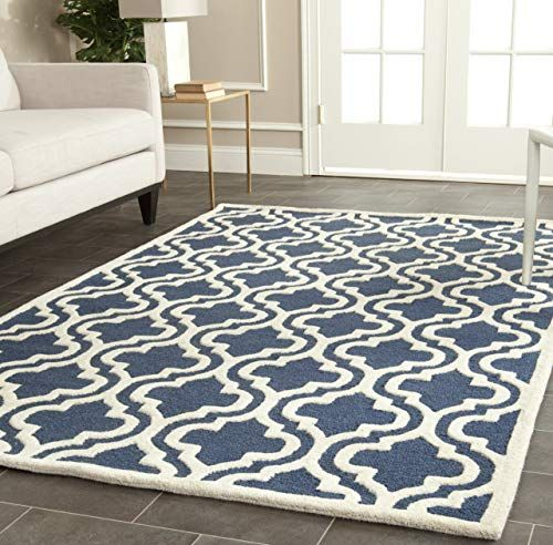 New Safavieh Cam132g 9 Area Rug 9 X 12 Navy Ivory Online Shopping In 2020 Navy Wool Rugs Rugs Wool Area Rugs