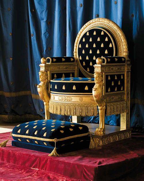 Tr ne de napol on fontainebleau la seule salle du tr ne encore visible en - Salle du trone versailles ...