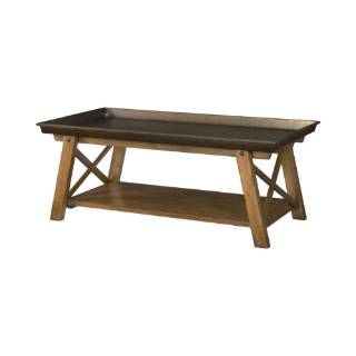 Check out the Hammary 204-910 New River Rectangular Tray Top Cocktail Table with Shelf Homeclick.com.