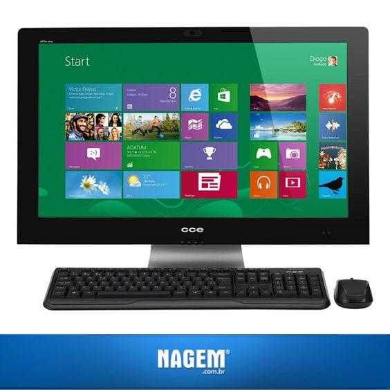Contando com um monitor de 24'' LED, o PC All-In-One da CCE é ideal para quem busca uma máquina eficiente para as tarefas do dia a dia. E o melhor é que ele está com uma megaoferta em nosso site: http://goo.gl/nEjV28