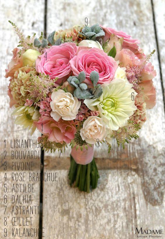 Bouquet la mariee aux pieds nus rose madame artisan for Fleuriste rose