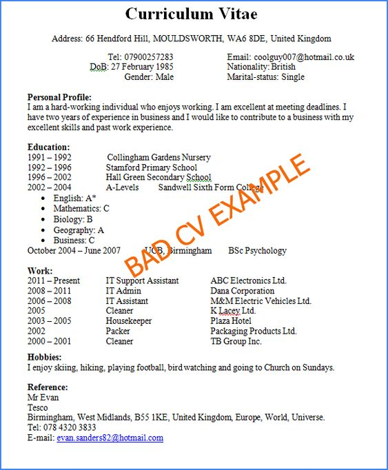 Resume Templates Good Or Bad Good Resume Examples Good Cv Job Resume Samples