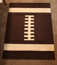 Football quilt. #boypatterns