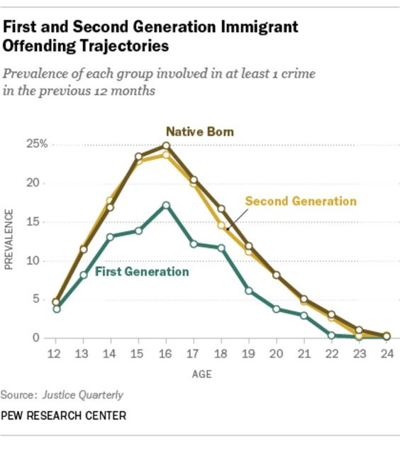 """""""There is solid evidence that immigrants commit fewer crimes than the native born. Undocumented immigrants face greater consequences for being in contact with police and are more careful to avoid it than the rest of us..."""""""