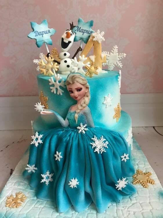 Astonishing Eliza Frozen Birthday Cake For Girls Frozen Themed Birthday Cake Personalised Birthday Cards Rectzonderlifede