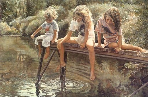 Steve Hanks watercolour art.: