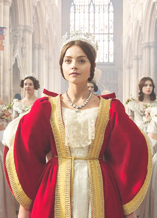 Jenna Coleman in 'Victoria' (2016).