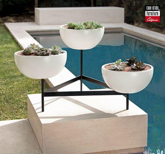 Mid Century Modern Ceramic Planters Modernica