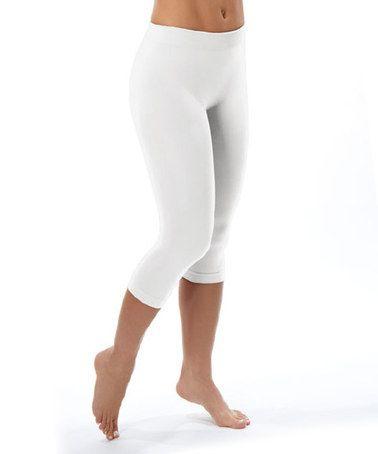 Look at this #zulilyfind! White Capri Leggings #zulilyfinds