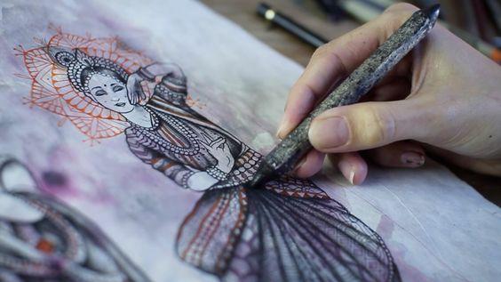 illustration arts by Caroline Karenine