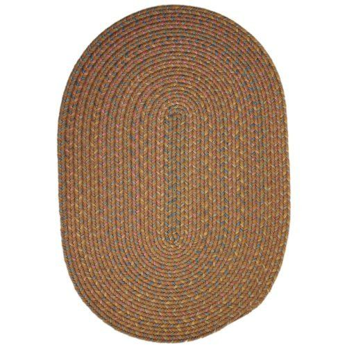 Rhody Rug Blossom Indoor/Outdoor Braided Rug - Gold Size - 10 ft. Round by Rhody Rug. $479.99. Stain-resistant and quick-drying. Gold, a yellow/gold color with rose, blue, and green accents. 60% textured polypropylene, 40% nylon. Heavy braid construction. Reversible. The Rhody Rug Blossom Indoor/Outdoor Braided Rug - Gold's rich gold color features rose, blue, and pale green accents that give it depth and warmth, making it a beautiful addition to any indoor or...