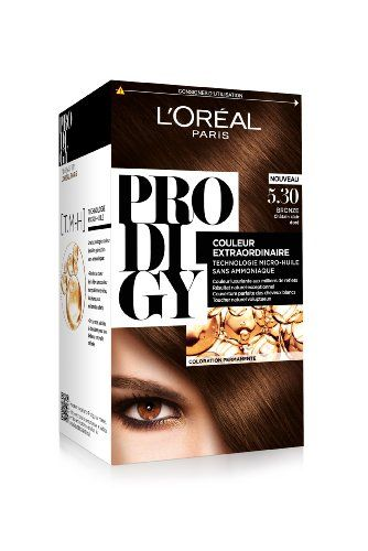 L'Oréal Paris Prodigy Coloration Châtain Clair Doré Sans Ammoniaque Micro-huile  5,30 Bronze Prodigy http://www.amazon.fr/dp/B00KBJTAW4/ref=cm_sw_r_pi_dp_skU.vb1TPT8NC