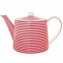 teapot: Cups Teapots Silver, Red Stripes, Teapot Juliet, Stripey Teapot, Tea Pots, Teapots Teacups, Striped Teapot, Stripes Teapot
