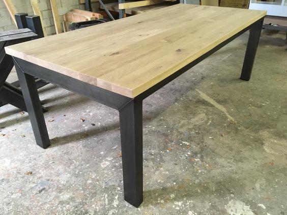 Industrieel design eetkamertafel deze tafel heeft een strak