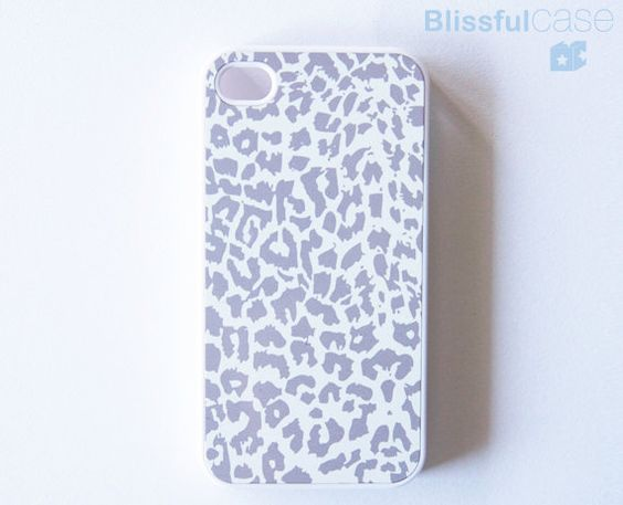 iphone case  Grey Leopard by BlissfulCASE on Etsy, $14.99