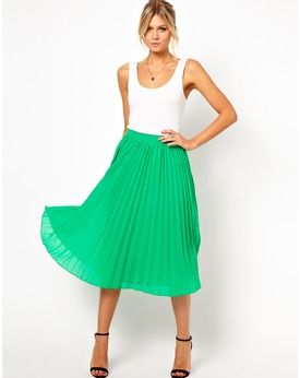 ASOS Pleated Midi Skirt, Asos