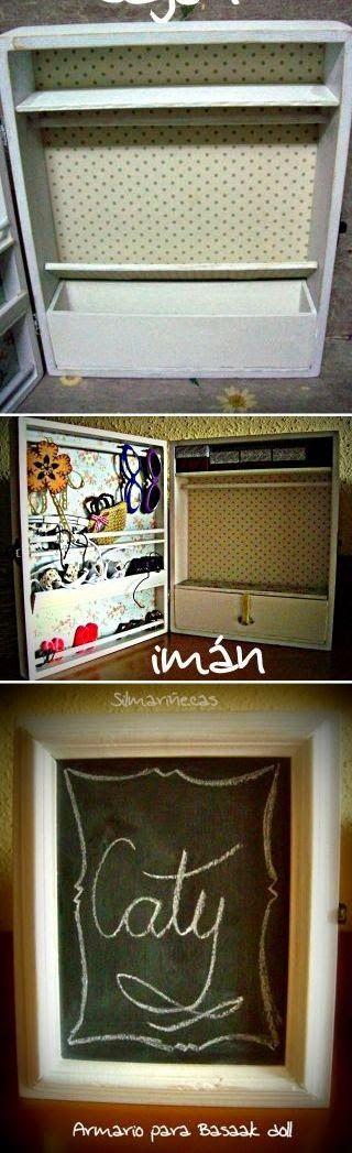 Diy c mo hacer un armario para mu ecas con una caja de - Como construir un armario de madera ...