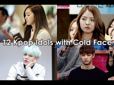 12 Kpop Idols With Cold Face Youtube Cold Face Face Kpop