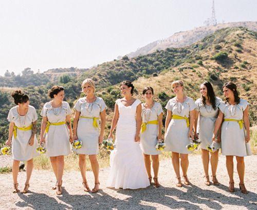 pretty bridal party.