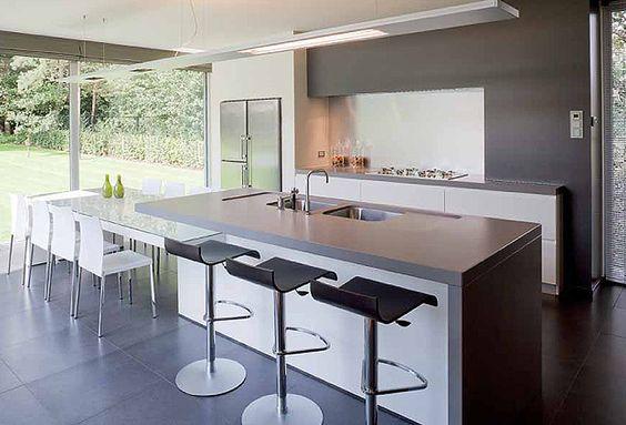 Schellen architecten nijlen interieur keuken moderne keuken met veel lichtinval uitzicht - Moderne keuken deco keuken ...