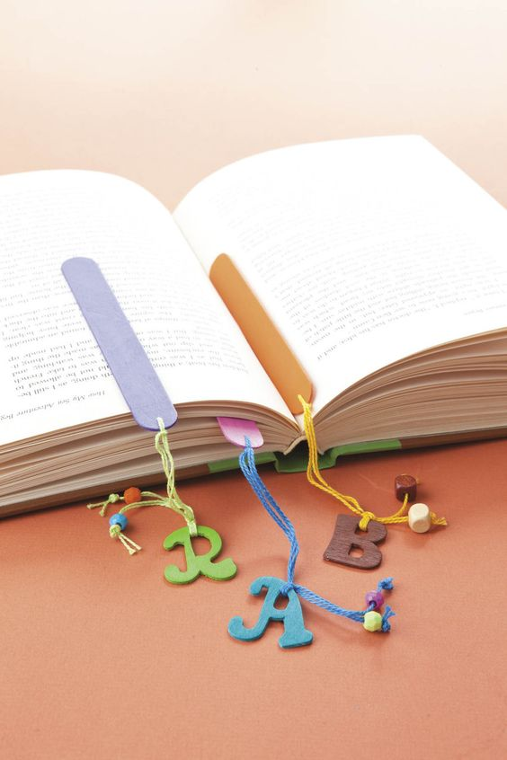 Popsicle stick bookmarks!:
