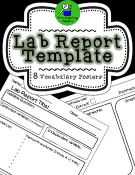 Lab report template with 8 investigation vocabulary postersUse this lab report…