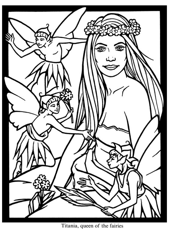 midummer nights dream coloring pages - photo#2