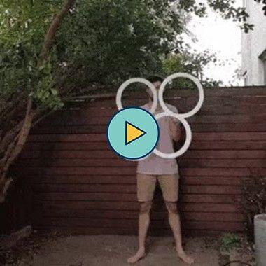 truque com anéis grandes