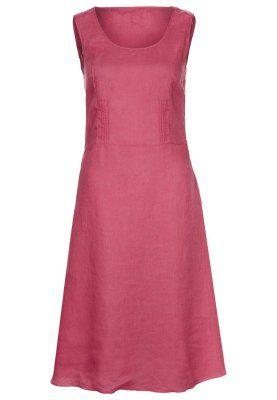 120% Lino Sommerkleid pink