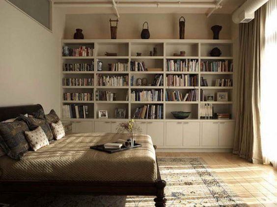 bedroom bookshelves wall shelves ideas full wall shelves ideas