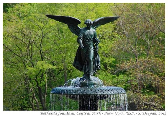 Bethesda Fountain, Central Park. Isn't she lovely?