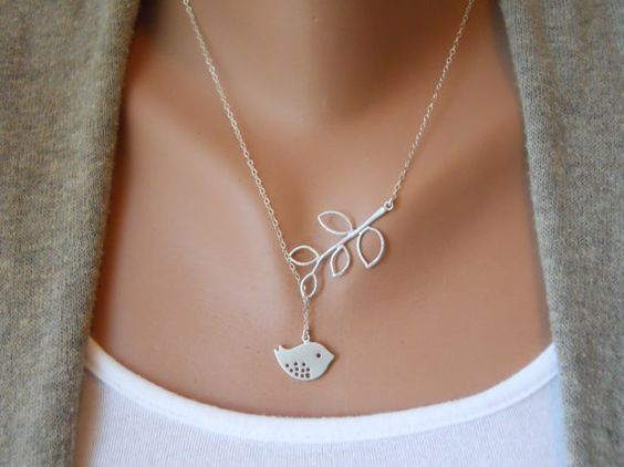 Detailed Bird and Branch Lariat by morganprather on Etsy, $23.00 - I'd basically like one of everything in this shop!