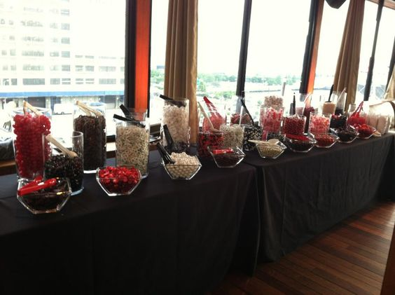black and red candy bar - Google Search Sweets tables/candy